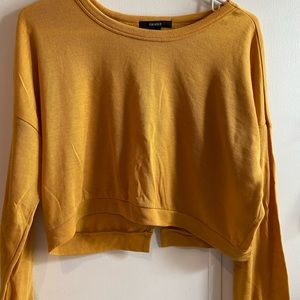 Yellow Cropped Sweater⚡️